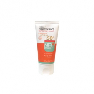 کرم ضد آفتاب رنگی نئودرم spf50 به عنوان مارک خوب کرم محافظت کننده صورت