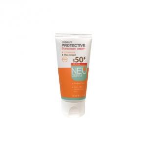 کرم ضد آفتاب فاقد چربی spf50 نئودرم رنگ بژ به عنوان بهترین مارک ضد آفتاب محافظت کننده پوست
