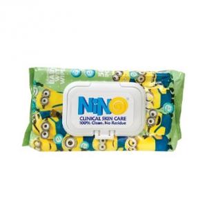 دستمال مرطوب درب دار کودک نینو حاوی کالاندولا به عنوان بهترین پاک کننده نرم کننده پوست