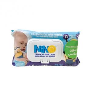 دستمال مرطوب کودک بدون اسانس نینو مدل درب دار به عنوان پاک کننده موثر پوست کودک