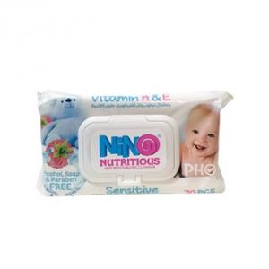 دستمال مرطوب درب دار پوست حساس نینو به عنوان بهترین دستمال پاک کننده ضد التهاب پوست کودک