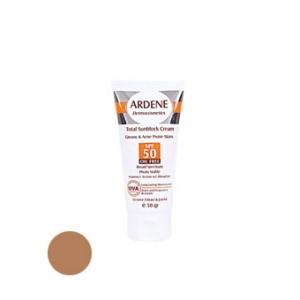 کرم ضد آفتاب فاقد چربی بژ تیره آردن SPF50 به عنوان بهترین ضد آفتاب پوست چرب و جوشدار