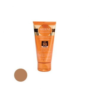 کرم ضد آفتاب آردن حاوی spf90 رنگ یژ تیره به عنوان بهترین ضد آفتاب مناسب پوست معمولی و خشک