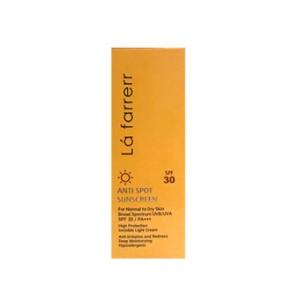 کرم ضد آفتاب بی رنگ لافارر spf30 مناسب پوست خشک و معمولی، بهترین محافظت کننده مرطوب کننده پوست
