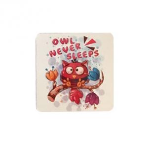 آینه جیبی طرح owl never sleeps به عنوان آینه ای کم حجم و سبک